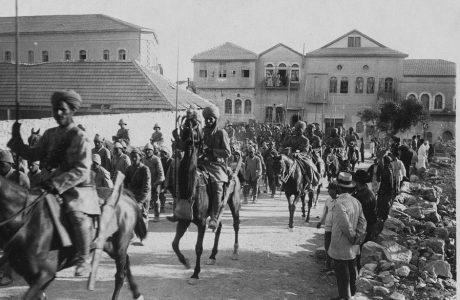"""הסתערות הפרשים ההודים ו""""גיבור חיפה"""" 23/9/1918"""