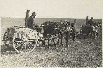 עגלות מטבח שדה עות'מאני, 1917, המקור: ספריית הקונגרס, אוסף מאטסון