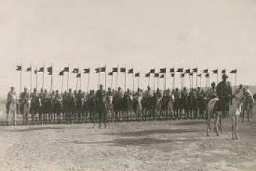 פרשים עות'מאנים, סביבת באר שבע, 1917, המקור: ספריית הקונגרס, אוסף מאטסון
