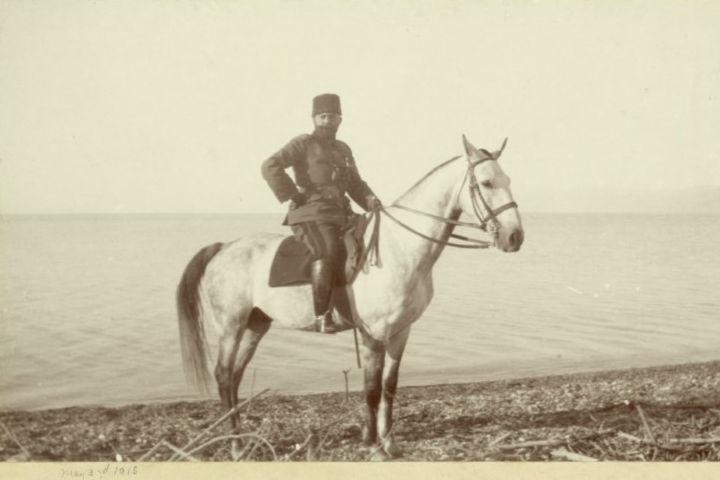 ג'מאל פאשה, מושל מחוז סוריה ומפקד הכוחות בחזית ארץ ישראל על שפת ים המלח, 1915, המקור: ספריית הקונגרס, אוסף מאטסון